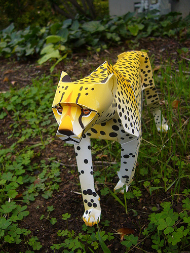 cheetah papercraft