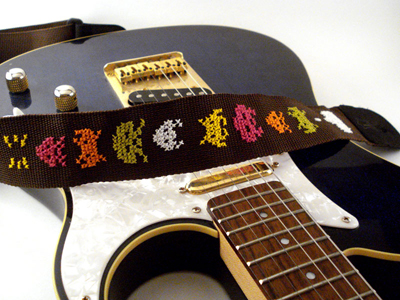 space invaders guitar strap