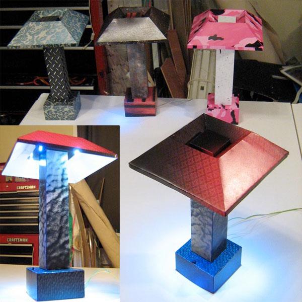 Papercraftledlamp