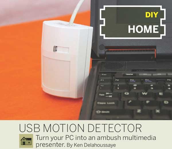 USB motion detector