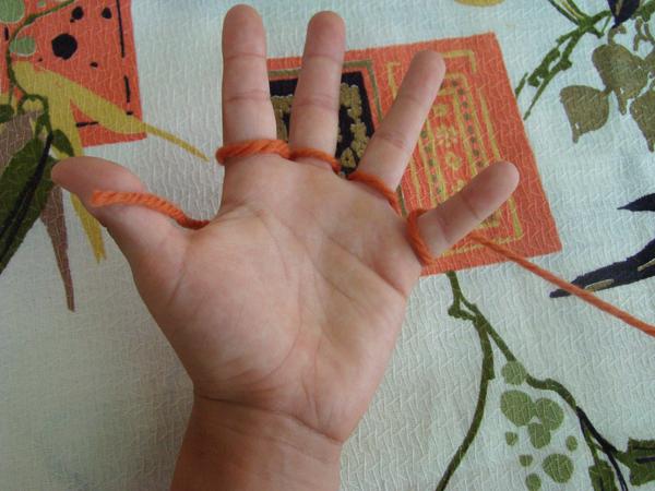 Fingerknitting Step5