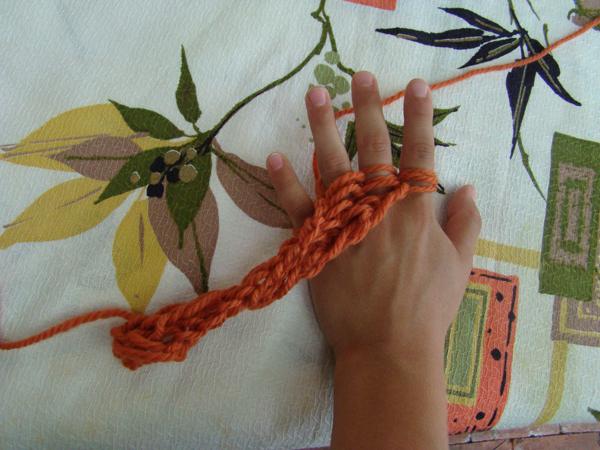 Fingerknitting Wip