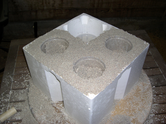Make Projects Mold Concrete Pots In Scrap Styrofoam Make