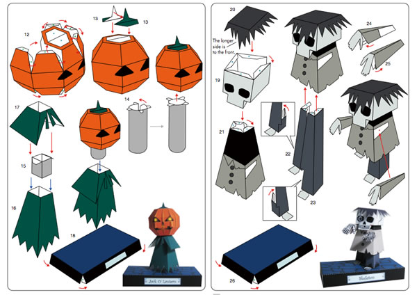 Print And Fold Halloween Paper Crafts | Make: