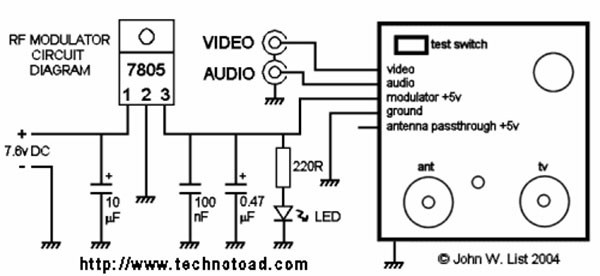 rf modulator wiring diagram block and schematic diagrams u2022 rh lazysupply co Nintendo RF Modulator Radio Shack RF Modulator