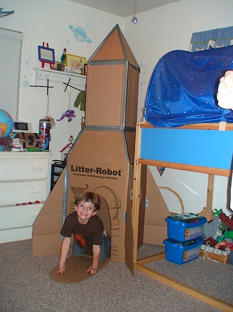 Carboard Rocket Ship Make