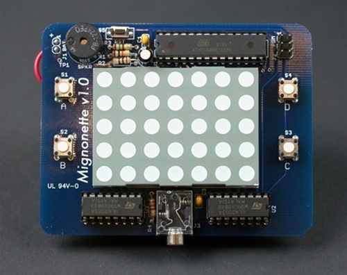 Fun games and entertainment open source hardware 2009 the mignonette is a do it yourself electronic game console to learn about soldering microcontrollers and game programming inspired by the mignon game kit solutioingenieria Image collections