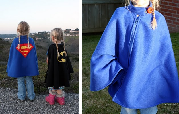 How-To: Fleece Superhero Poncho Cape