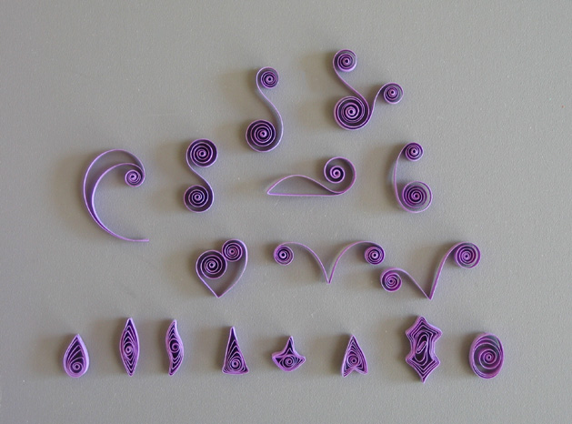 Quilling101 Sampleshapes