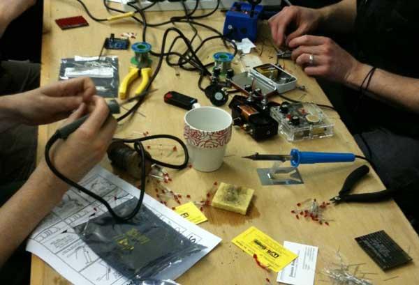 Soldering workshop setup