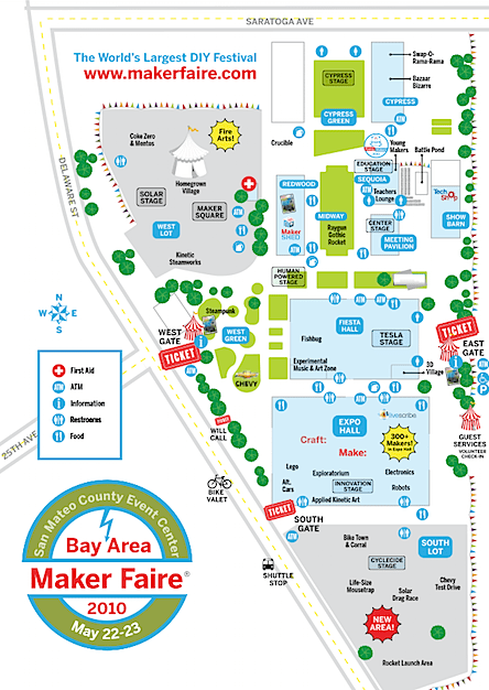 Maker Faire Schedules and Map | Make: on roblox map, wedding map, new york map, halloween map, maker fair map,