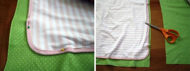 Tag Happy Baby Blanket Step3