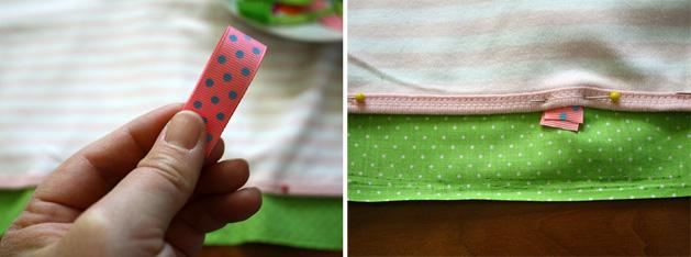 Tag Happy Baby Blanket Step5