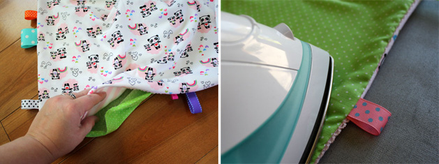 Tag Happy Baby Blanket Step7