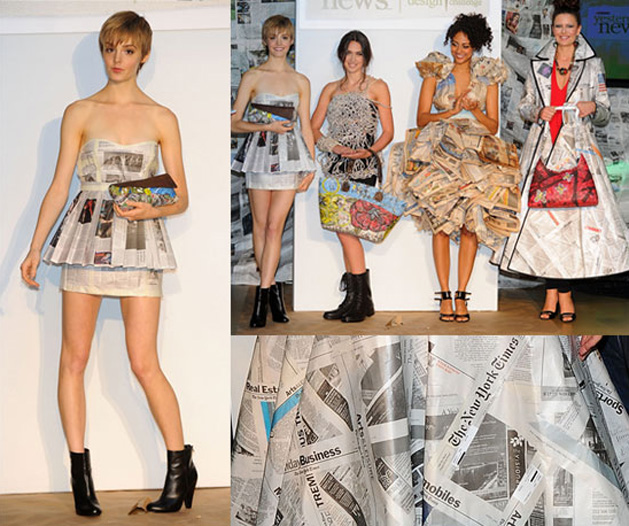 Dresses Made From Recycled Newspapers Make