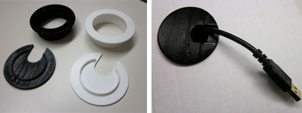 3D Printed Desk Grommet