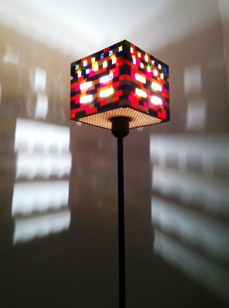 Lego lampshade make as a family full of lego fanatics this lamp posted over on recylart would fit right in to our home we could even make a slightly different version for aloadofball Choice Image