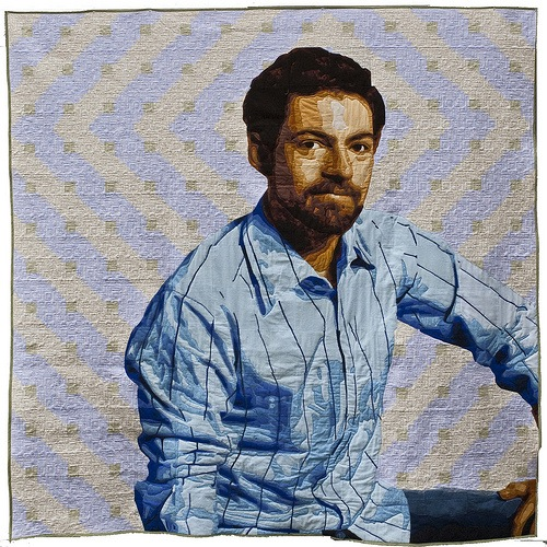 luke haynes self portrait and 3d illusion quilts make