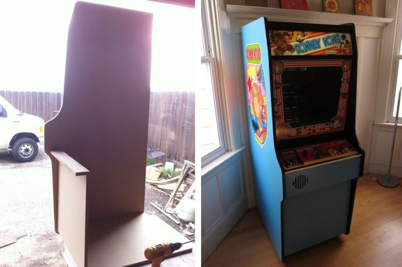 Scratch built donkey kong arcade cabinet make redditor intensecircusfire made this excellent replica donkey kong arcade cabinet out of mdf wood he used plans from jakobud and it took him about 30 malvernweather Images