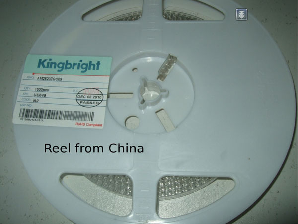 LED reel from China