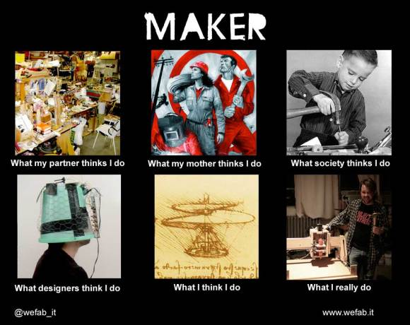 What my friends think i do vs what i really do make the maker occupation memed by wefab maxwellsz