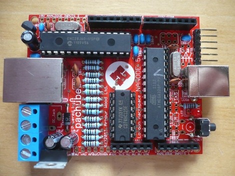 Nanode Ethernet Enabled Arduino Board