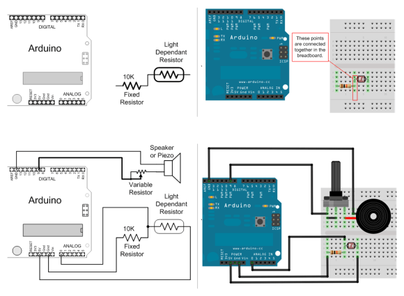 Schematic to breadboard