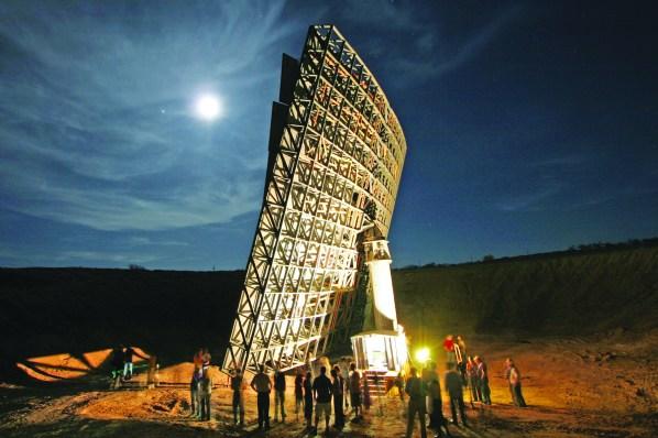 backside of Interstellar Light Application's moon light collector