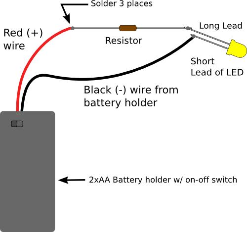 picking resistors for leds make rh makezine com Wiring LED Lights in Series 120V LED Wiring Diagram