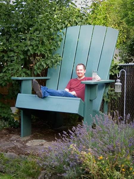 Build A Giant Adirondack Chair Make