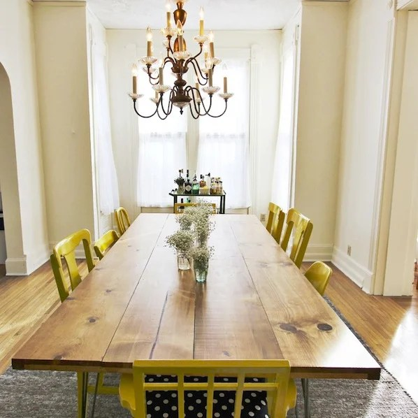 making a dining room table | Inspiration: DIY Dining Room Table | Make:
