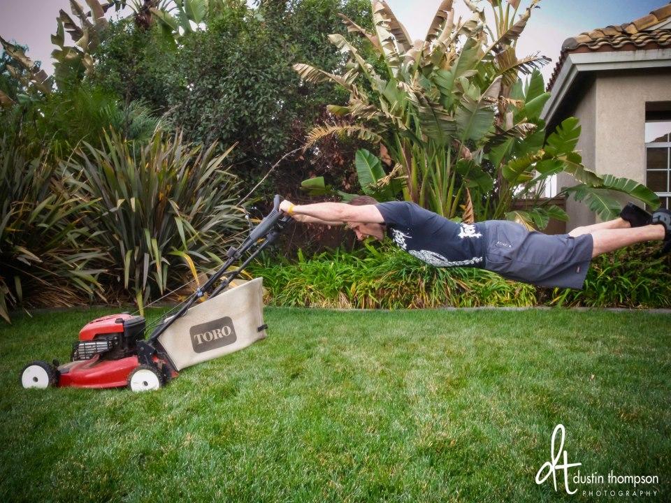 dustin thompson lawnmower
