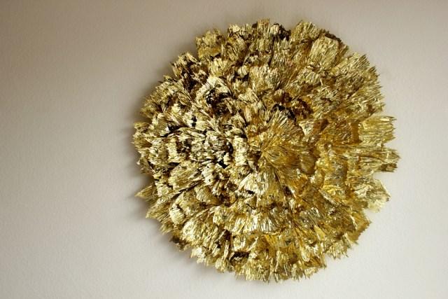 Giant gilded flower wall decor a