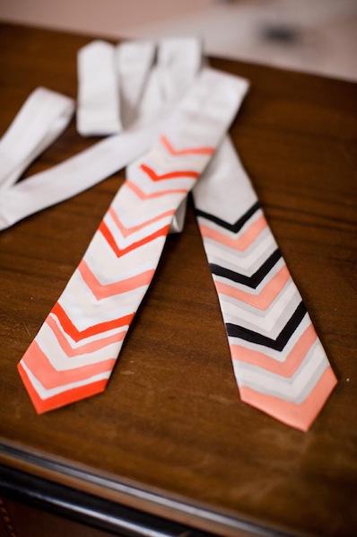 weddingobsession_DIY_chevron_tie