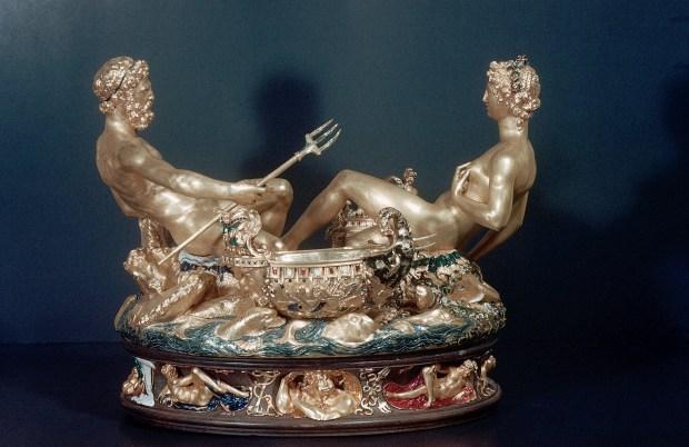 Saltcellar with Neptune and Tellus by Benvenuto Cellini