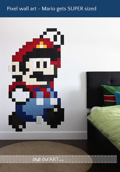 shiftctrlart_Pixel_wall_art_Mario