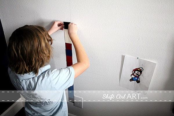 shiftctrlart_Pixel_wall_art_Mario2