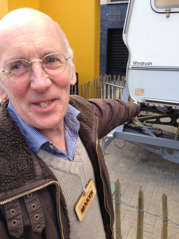 Tim Hunkin along with Andy Plant created the Astronaut's Caravan and brought it to Maker Faire UK.