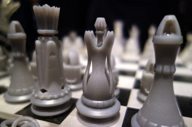 Form 1 printed chess set