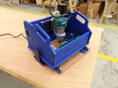 A Handibot prototype awaits its debut at the Hardware Innovation Workshop