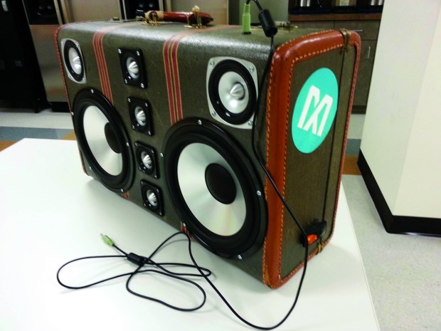 Figure 6. The completed boombox.