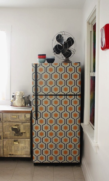 How To Wallpaper Your Fridge Make
