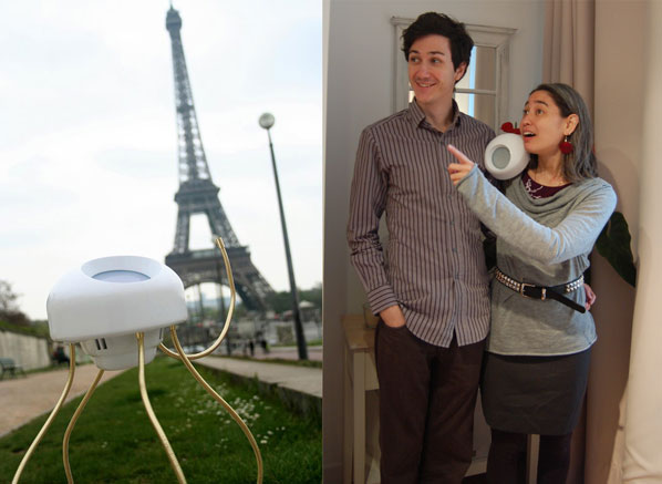 Clyde visits Paris (left) & Amanda & Bruno look to the future (right)
