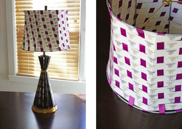 handsoccupied_woven_ribbon_lampshade