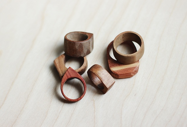 how to simple wooden rings make