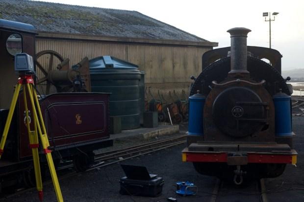 Laser scanning the engines at the Ffestiniog Railway