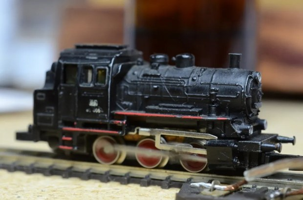 In 1978, this was the smallest model locomotive manufactured anywhere in the world. After I cleaned some crust off the wheel treads, it ran fine.