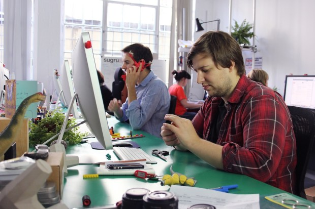 Hard at work in the Sugru office