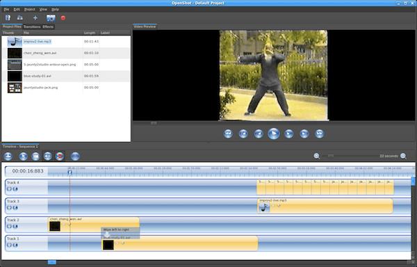 OpenShotEditingScreen