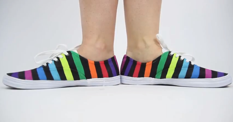 Rainbow shoes by threadbanger-2